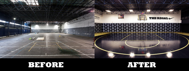 The Regal Basketball Court Sfg S State Of The Art Refurb For Nike Sports Facilities Group