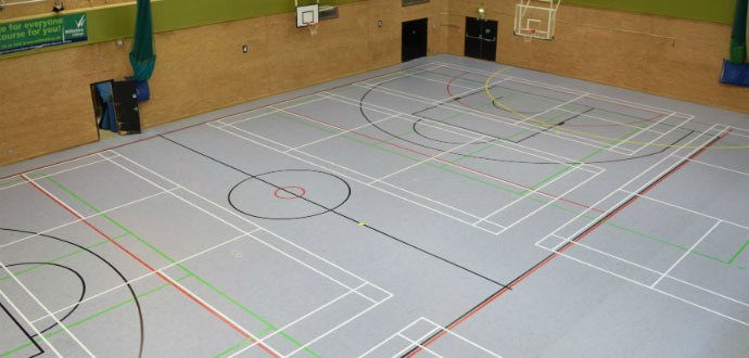Sports Flooring Line Marking Sports Facilities Group